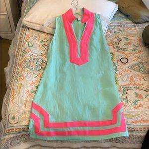 sail to sable pink & mint dress Sz XS!  So cute !!